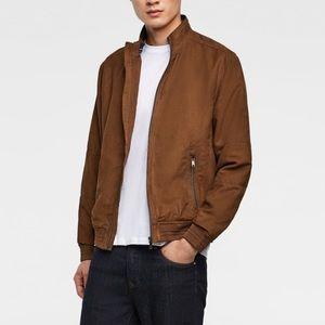 Zara men camel color faux suede jacket